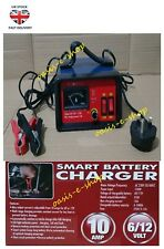 10amp Smart Battery Charger 6V / 12V Emergency Mains Socket Trickle Recharge