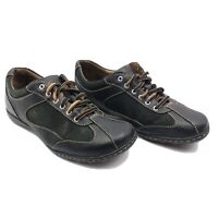 Born Leather Sneakers Women's US 8.5 EU 40 Black Brown Bicycle Toe Shoe Unisex