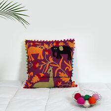 Vintage Suzani Pillow Cases 16X16 Indian Cotton Cushion Cover Throw Decor Shams