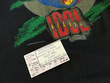 Vintage Original BILLY IDOL WHIPLASH SMILE TOUR 1987 Concert T Shirt & Stub