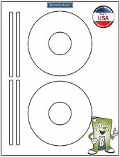 100 CD/ DVD Laser and Ink Jet Labels Templates 5931, 8931, 8691,8692. 50 Sheets!