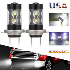 2 x H7CREE 100W LED Projector Fog Driving Light Bulbs 6000K Super White 8000LM