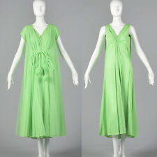 M 1960s Claire Sandra Lucie Ann Green Night Gown Peignoir Set Lounge Sleep 60s