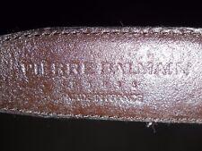 Ceinture Noire Homme Marque Balmain Paris Made In France Size 40 / 99 cm