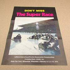 Vintage Snowmobile Flyer LeMans International Pro/Am Championships State Fair Wi