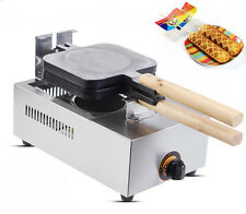 Non-stick LPG Lolly Waffle Maker Crispy Hot Dog Baking Machine 4pcs/time