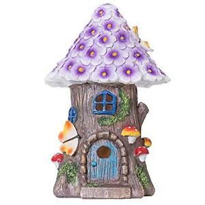 GloBrite Solar LED Fairy Dwelling House Flowers, Mushrooms, Butterflies Outdoor