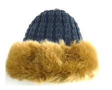 Mujer Piel Sintética Estilo Ruso Invierno Gorro de punto Cosaco cálido sombrero
