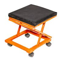 Adjustable Wooden Foot Stool – Leather Tapestry Foot Rest
