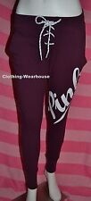 Victoria's Secret Pink Orchid Red White Lace Up Skinny Collegiate Pants S Small