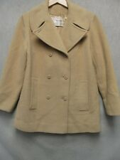 V5004 Young Pendleton Beige Wool USA Made Button Up Trench Coat Girls 11-12