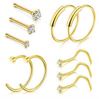Fashion Studs Titanium Steel Jewelry Gift Nose Ring Open Hoop Lip Ring Gift Q