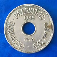 Israel Palestine British Mandate 10 Mils 1935 Coin