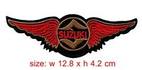 Suzuki Patch Wing Iron/Sew On Motorcycle Biker Racing Embroidered