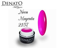 Neon Magenta 5ml UV LED Gel Nails File Off Colour Perfect Pigmentation Denato