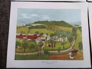 4- Vintage Grandma Moses Art Print 1948, 1950, 1951 and 1954