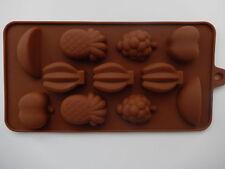 11 Holes Silicone Chocolate Fruit Shape Mould Jelly Ice Candy Chocolate Cake UK