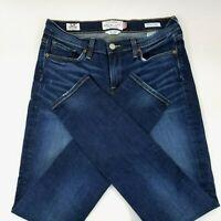 Lucky Brand Brooke Skinny Jeans Womens 6 28 Stretch Dark Wash Denim Distressed