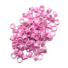 100 x 8 mm Birds Quail Leg Rings Pigeon Identification Clips with Number 1~100
