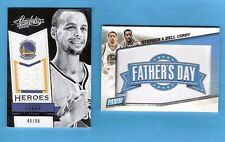 STEPHEN CURRY GAME USED JERSEY #46/99 2015 FATHER'S DAY PATCH CARD DELL WARRIORS