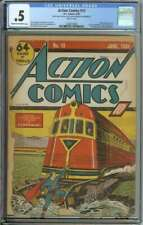ACTION COMICS #13 CGC 0.5 CR/OW PAGES // 4TH SUPERMAN COVER 1939