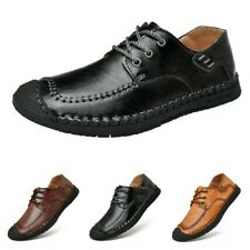 Men Slip On Flats Casual Driving Moccasins Loafers Pumps Walking Leather Shoes L