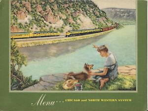1952 CNW Railway Dinner Menu