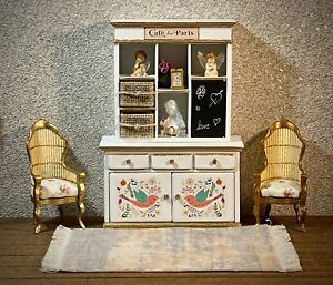 1:16 Dollhouse shabby-chic cupboard CAFFEE spring collection - Lundby scale
