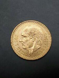 1945 2.5 Pesos Dos Y Medio Pesos Mexico Gold Coin C2