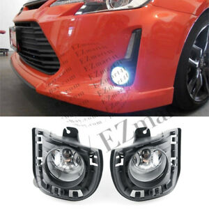 Fit 2014 2015 2016 Scion tC Front Bumper Clear Lens Fog Lights Fog Lamp Pair