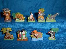 JUNGLE BOOK Matte Set 10 Figurines FRENCH Porcelain FEVES Figures DISNEY Baloo