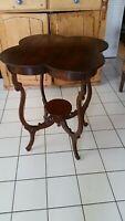 Art Nouveau Antique Clover Leaf Mahogany Parlor Table Weekend Sale $124.99