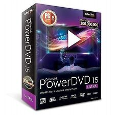 CyberLink PowerDVD 15 Ultra 2015 Ed. Movie Media Player Software Enhanced 4k