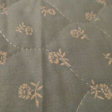 Vtg 80s Fabric prequilted reversible wedgewood blue floral 24x44 polished cotton