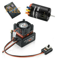 Hobbywing 3650 G2 Brushless Motor + 10BL60 60A ESC Kit Free Program Card RC 1/10