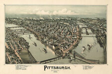 Pittsburgh Pa c1902 map 36x24