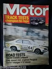 MOTOR MAGAZINE - TOYOTA COROLLA LIFTBACK - DEC 25 1976