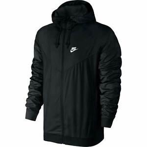 Nike Sportswear Windrunner Windbreaker mit Kapuze Herren Mesh-Futter Jacke Black