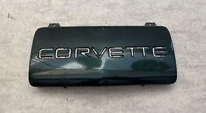 91-96 CORVETTE C4 FRONT LICENSE PLATE FILLER POLO GREEN 10135973, 10285647