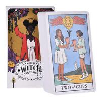 78Pcs Modern Witch Tarot Cards Rider Tarot Deck Game Card English Divination