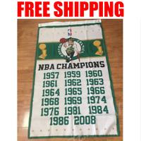 Boston Celtics 2018 Champions Flag NBA Basketball Banner 3X5 ft 2 Gromments
