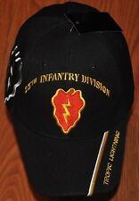 25th Infantry Division Army Hat Ball Cap Tropic Lightning Electric Strawberry