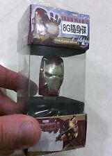 Marvel Iron Man 3 - 8GB USB Flash Drive (Metallic Color) (The Avengers)