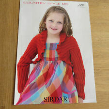 Sirdar Country Style DK Pattern No. 2294 - Shrug