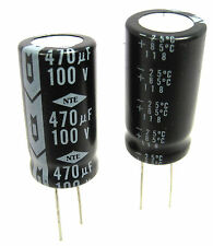 470uF 100V Radial Lead Electrolytic Capacitors: 2/Lot