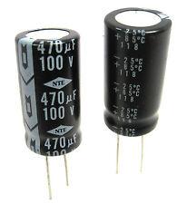 470uF 100V Radial Lead Electrolytic Capacitors: 2/Lot
