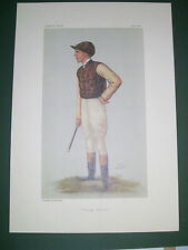 VANITY FAIR PRINT JOCKEY GEORGE BARRETT  HORSE RACING