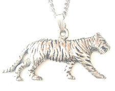 Tigre Colgante Hecho a mano en Peltre Macizo en el Reino Unido + Caja PN81