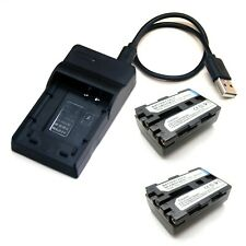 Battery / USB Charger For Sony NP-FM30 NP-FM50 NP-FM55H NP-QM50 NP-QM51