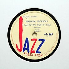 "MAHALIA JACKSON ""I Can Put My Trust In Jesus"" JAZZ SELECTION JS-565 [78 RPM]"